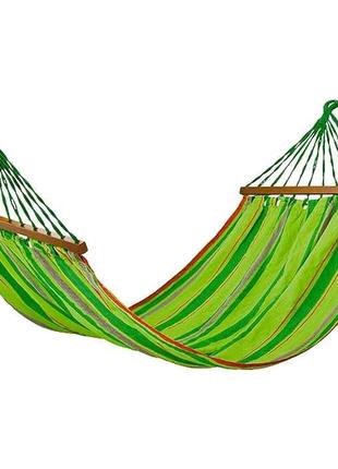 Гамак тканевый с деревянными планками для дачи, отдыха, кемпинга