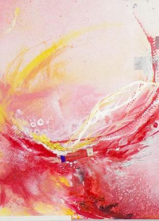 Авторская абстракция, абстрактная картина mixed media и акрил