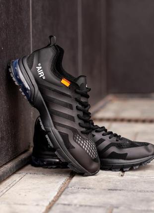 Кроссовки мужские adidas air marathon x off-white black  (осень)