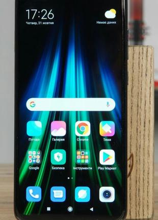 Стекло экрана Xiaomi Redmi Note 8 Pro чёрное + ОСА пленка