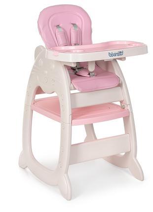 Детский стульчик трансформер для кормления Bambi 3612 8, розовый