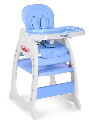 Детский стульчик трансформер для кормления Bambi 3612 12, голубой