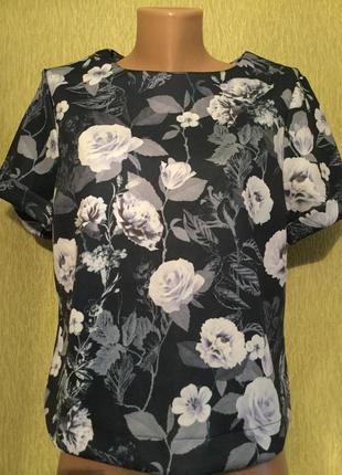 Блузка из плотной ткани в розы dorothy perkins размер 12/14