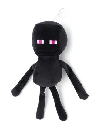 """Мягкая игрушка майнкрафт """"эндермен"""" с присоской 30 см"""