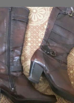 Новые кожаные сапоги TAMARIS натуральные Австрия оригинал