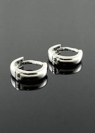 Маленькие серебряные серьги кольца