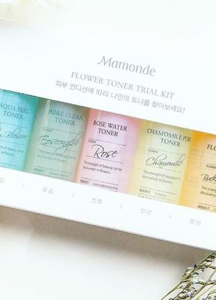 Набо тонеров mamonde flower toner trial kit (25ml*5ea) 5 штук