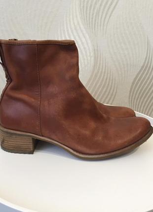 Кожаные ботинки ботильоны timberland