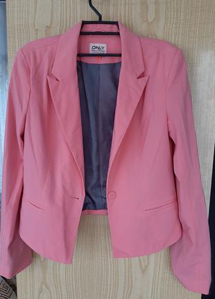 Пиджак жакет нено розовый