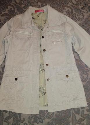 Куртка-пиджак летний сафари minitong бежевый