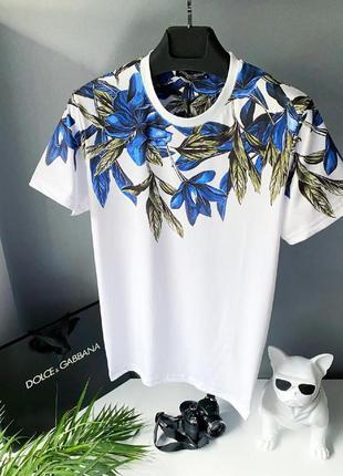 Футболка мужская с принтом dolce & gabbana белая / футболка по...