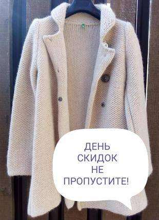 Benetton. кардиган, пальто вязаное. оригинал. шерсть.