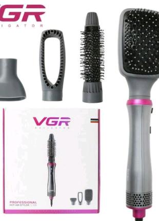 Фен-стайлер 3 в 1 для укладки волос, фен-расчёска