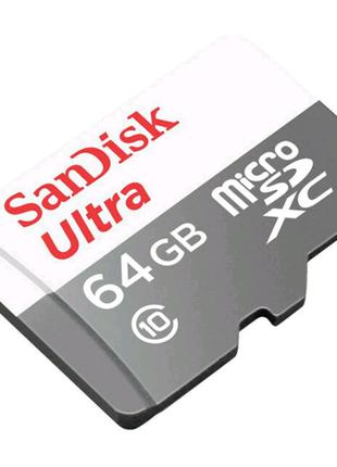 Карта Microsdxc SANDISK ULTRA 64GB class 10 A1 100 Мбайт/сек