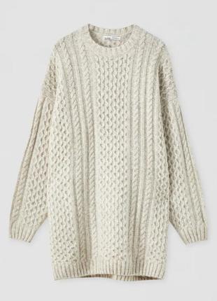 Зимний свитер: платье oversize