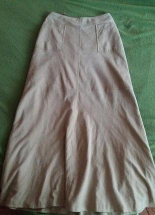 Шикарная юбка замша ваниль closed