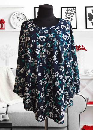 Блуза свободного кроя в цветочный принт monsoon