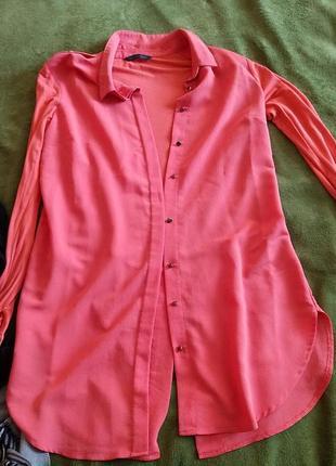 Рубашка удлинённая m&s collection