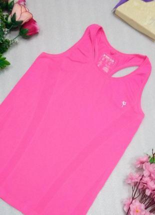 Яркий розовый спортивный топ майка для спорта фитнеса бега atm...
