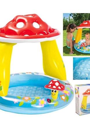 Надувной бассейн с навесом