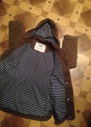 Оригинальная коттоновая курточка на 7-8 лет.
