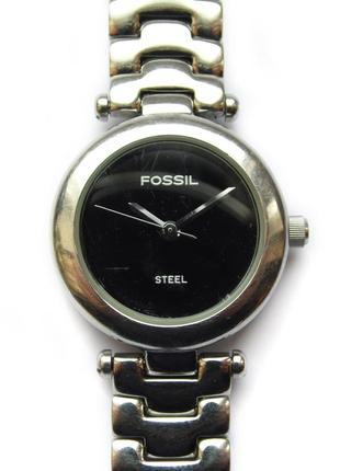 Fossil steel fs-2530 часы из сша нержавеющая сталь мех. japan tmi