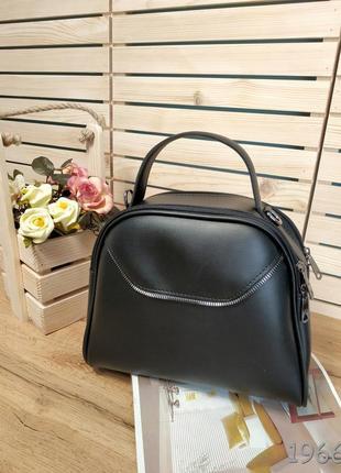 Стильная сумка коробочка черного цвета