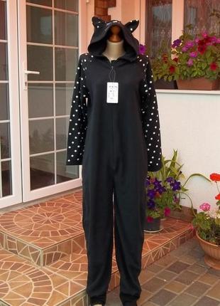 (46 р) комбинезон пижама человечек кигуруми кошечка  новая
