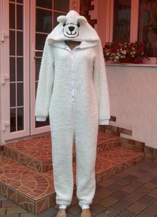 Tom tailor (46/48р) флисовый оригинальный комбинезон пижама ки...