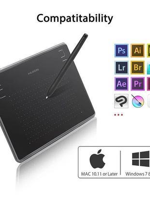 Huion H430P Графический планшет для рисования