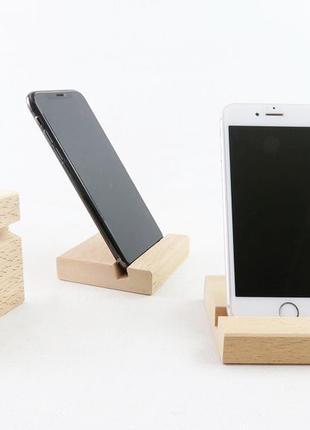 Деревянная подставка на стол для телефона, планшета