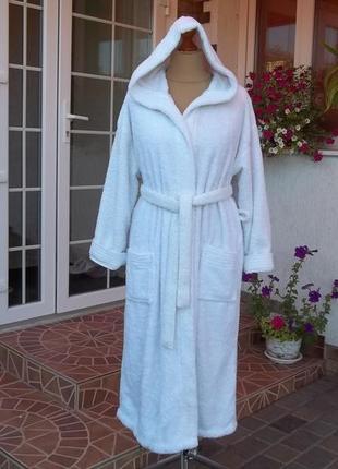 (50/52р) george  флисовый халат с капюшоном теплый турция