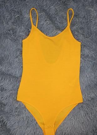 Жёлтый боди H&M