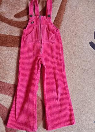 Вельветовые штаны комбинезон 1-2 года