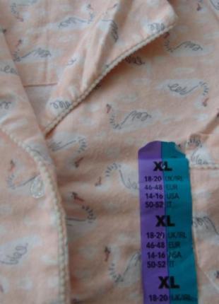 Пижамная рубашка primark англия хл, 18-20