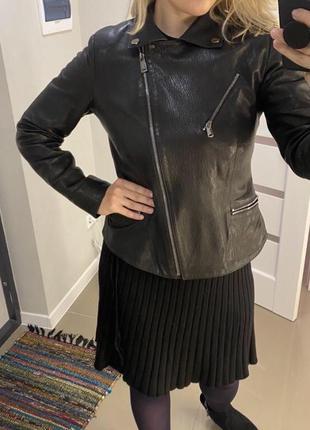Натуральная кожаная куртка косуха