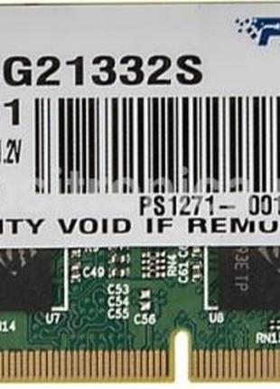 Новая оперативная память SO-DIMM DDR4 16GB Patriot 2133 MHz