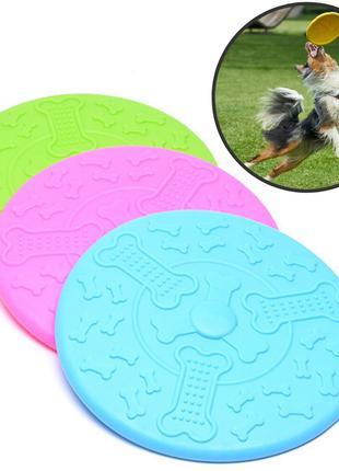Диск фрисби летающая тарелка для собак Cyber Bubber Frisbee (игру