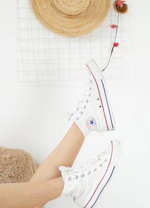 Converse all star эксклюзивные белые кеды 36 (22,5 см) кроссов...