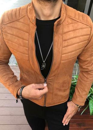 Бомбер мужской коричневый турция / куртка чоловіча курточка ко...