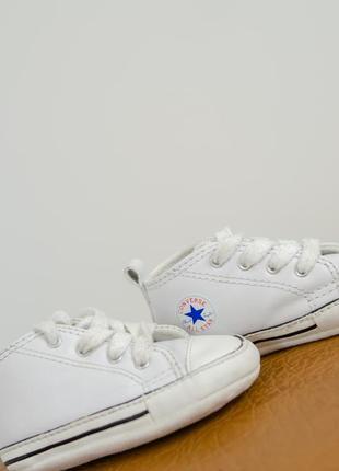 Converse all star оригинальные белые кожаные кеды 19 (11,5 см)