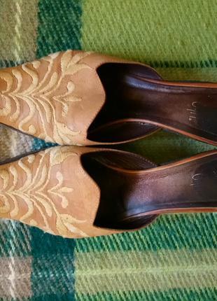 Мюли сабо шлепанцы на каблуке босоножки под реставрацию