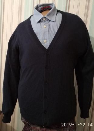 Кардиган свитер мужской шерстяной италия
