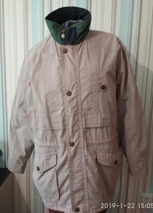 Куртка парка ветровка мужская беж большой размер