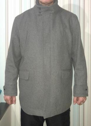 Пальто кашемировое серое англия
