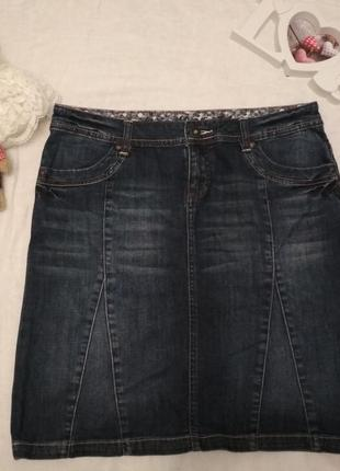 Юбка джинсовая от oliver большой размер