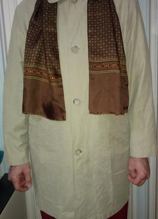 Плащ мужской куртка ветровка оливкового цвета