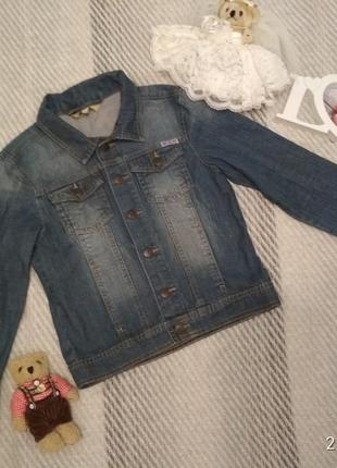 Пиджак куртка джинсовка из денима на девочку рост 128