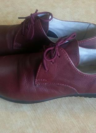 Туфельки , бордо