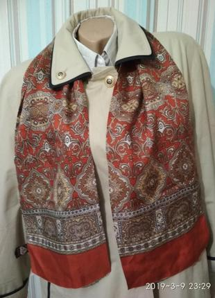 Шелковый шарф кашне в восточном стиле